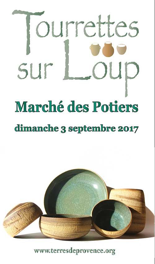 Marché potier de Tourrettes sur Loup (Alpes Maritimes) le dimanche 3 septembre 2017 - céramique et poterie