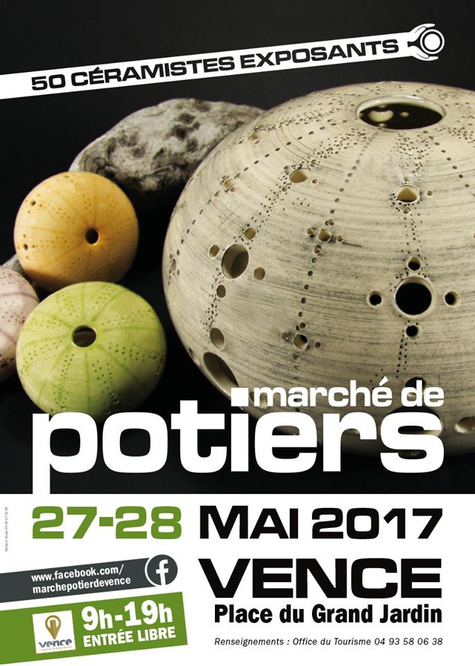 Marché potiers de Vence (Alpes Maritimes) les 27 et 28 mai 2017 - céramique et poterie