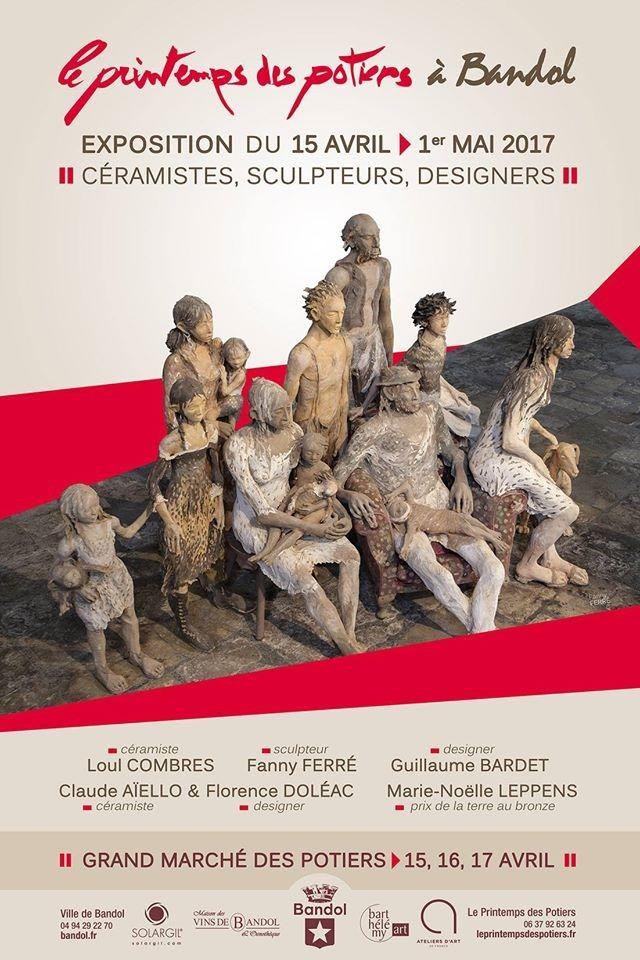 Exposition céramique, Le Printemps des potiers 2017, à Bandol (Var)