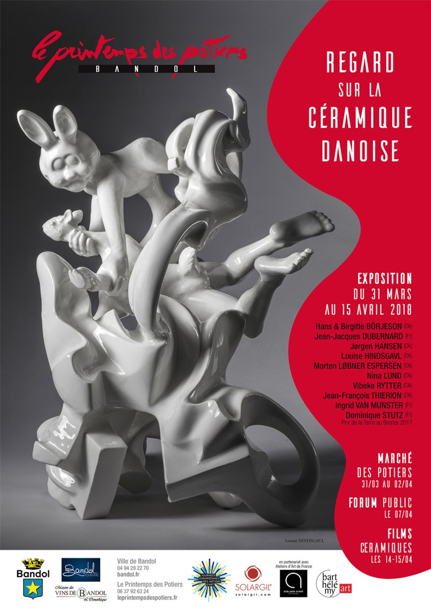 Le Printemps des Potiers à Bandol (Var) marché de céramique professionnel du 31 mars au 2 avril 2018