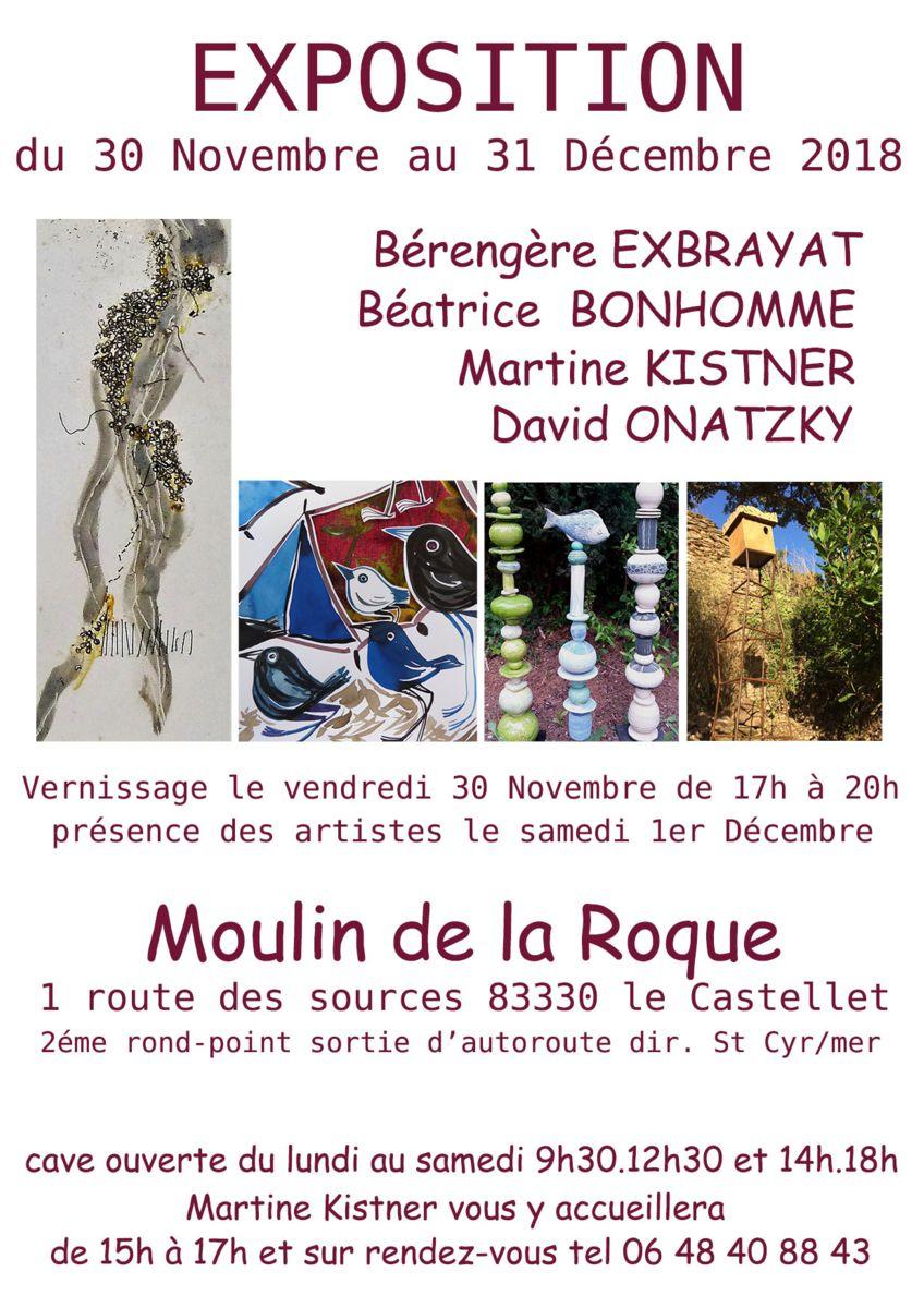 Exposition d'art - Céramique Martine Kistner au Moulin de la Roque (Var, Le Castellet)