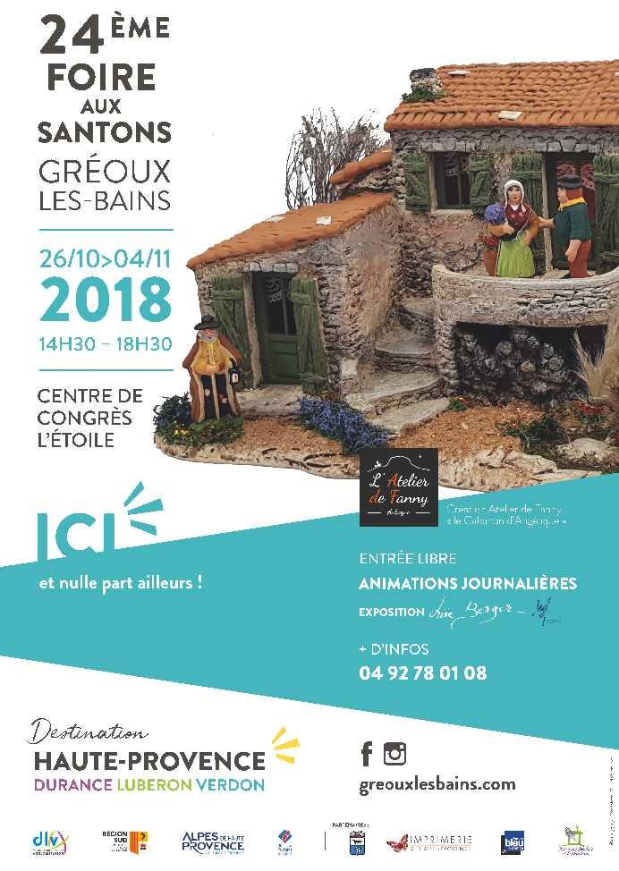 Foire aux santons Gréoux les Bains 2018, Alpes de Haute Provence