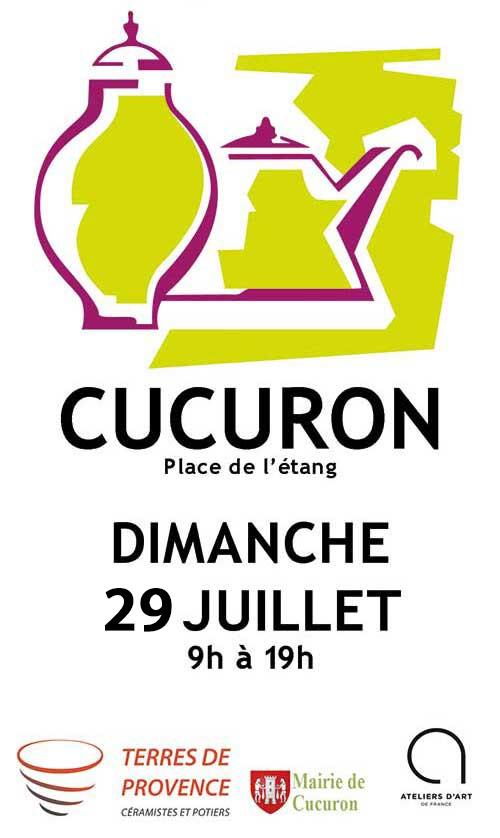 Marché potier de cucuron (Vaucluse) le 29 juillet 2018, céramique et poterie
