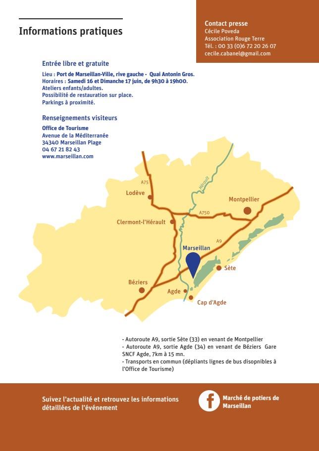 Marché potier de Marseillan (Hérault) les 16 et 17 juin 2018 - céramique et poterie