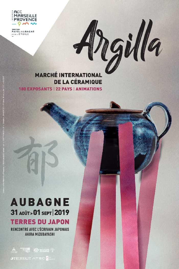 Argilla 2019 à Aubagne (Bouches du Rhône) les 31 août et 1er septembre 2019, céramique et poterie sur le thème du japon