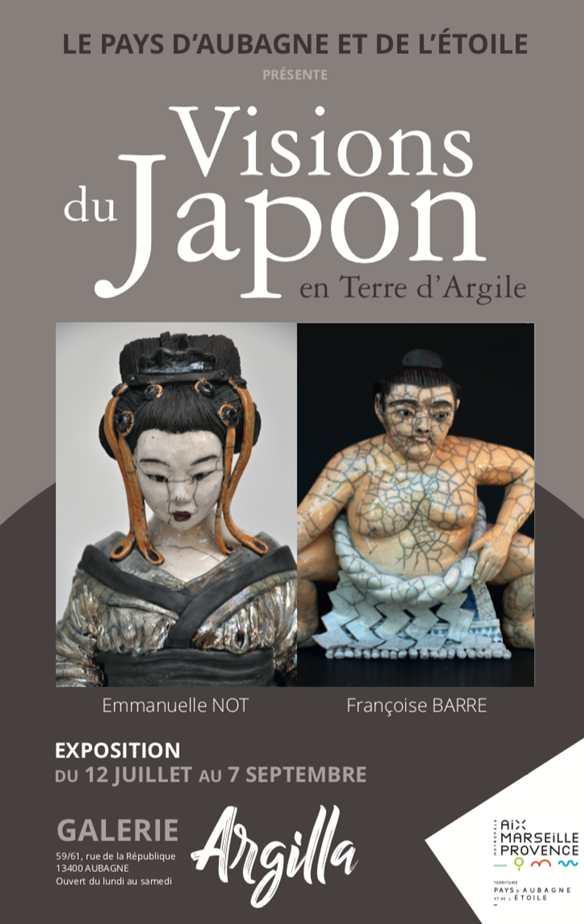 Exposition céramique Visions du Japon à la galerie L'Argilla à Aubagne (13) du 12 juillet au 7 septembre 2019