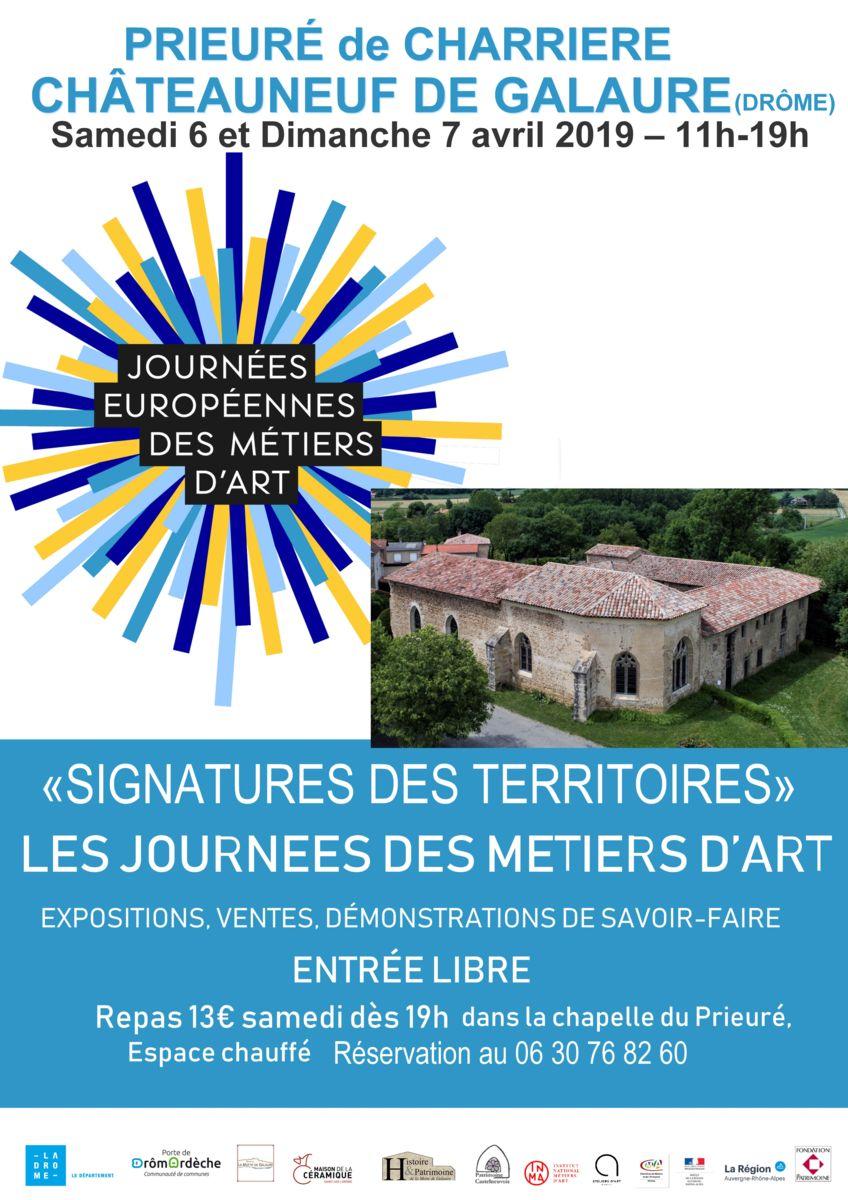 JEMA 2019 au Prieuré de Charrière (Drôme) les 6 et 7 avril 2019, Découvrez le savoir-faire des artisans d'art