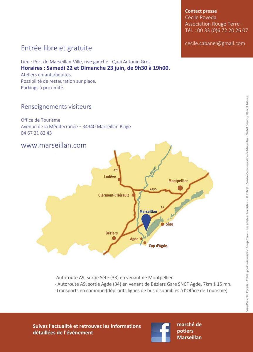 Marché potier de Marseillan (Hérault) les 22 et 23 juin 2019 - Poterie et céramique