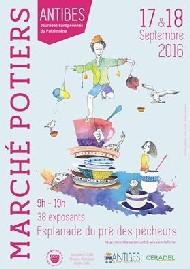 Marché potier d'Antibes les 17 et 18 septembre 2016 - céramique et poterie aux Journées du Patrimoine