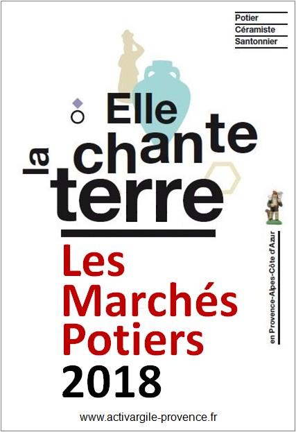 Les marchés potiers 2018 en Provence et alentours, consultez le calendrier