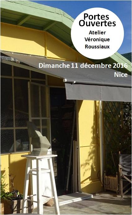 Portes ouvertes, Céramique Véronique Roussiaux à Nice le 11 décembre 2016