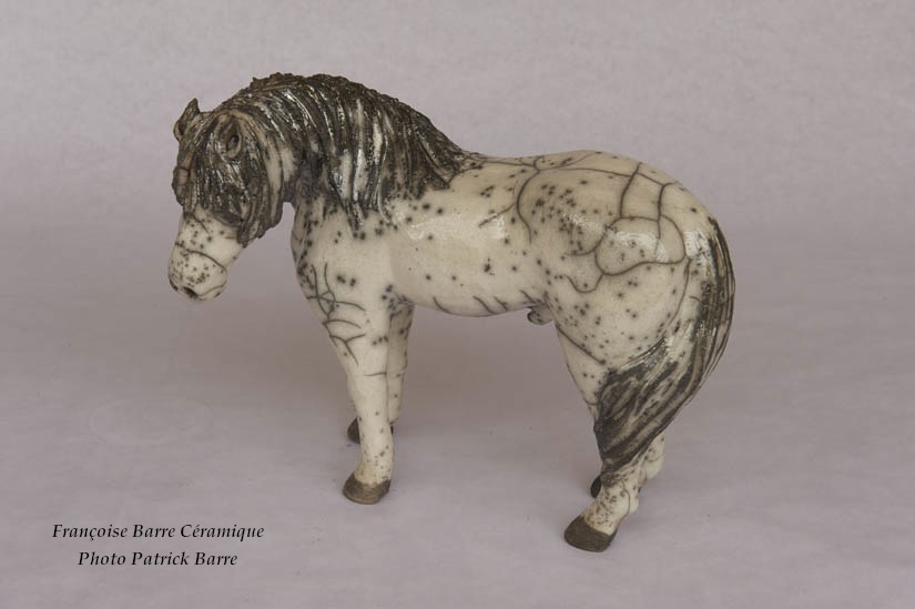 Françoise Barre céramique - Cheval, raku
