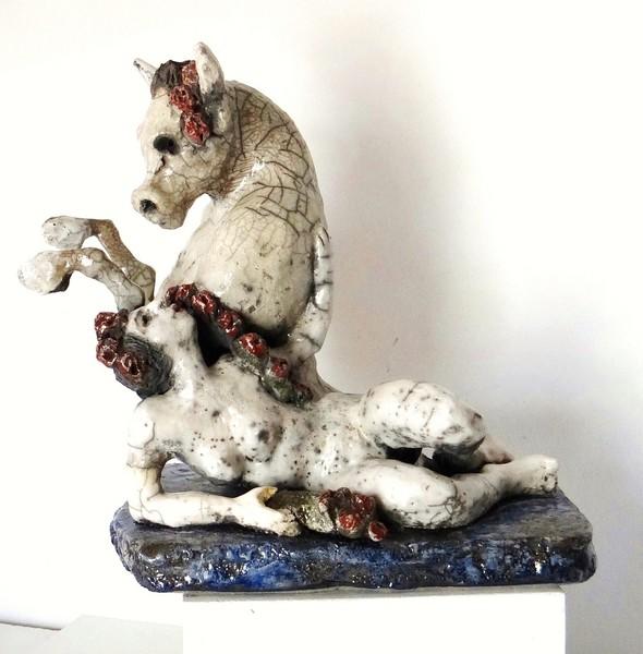 sculpture céramique Emilienne Baudin - Bandol, Var