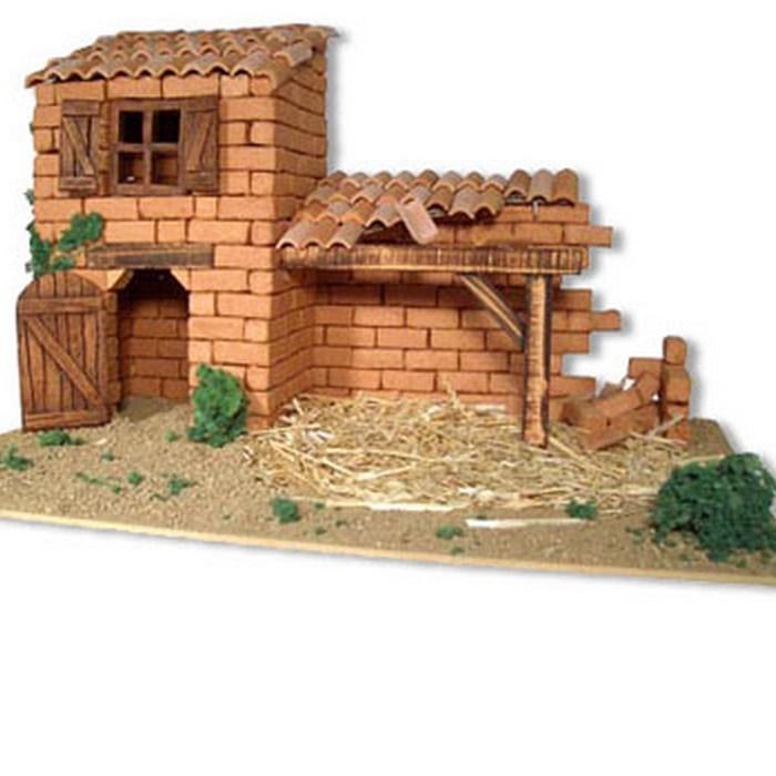 Le Santon créatif - Tuiles et briques en kit, accessoires, santons et animaux à peindre, pour construire son village de la crèche de Noël