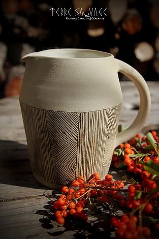 Terre sauvage Faustine Cayol céramique Art de la table et objets de décoration 13420 Gémenos