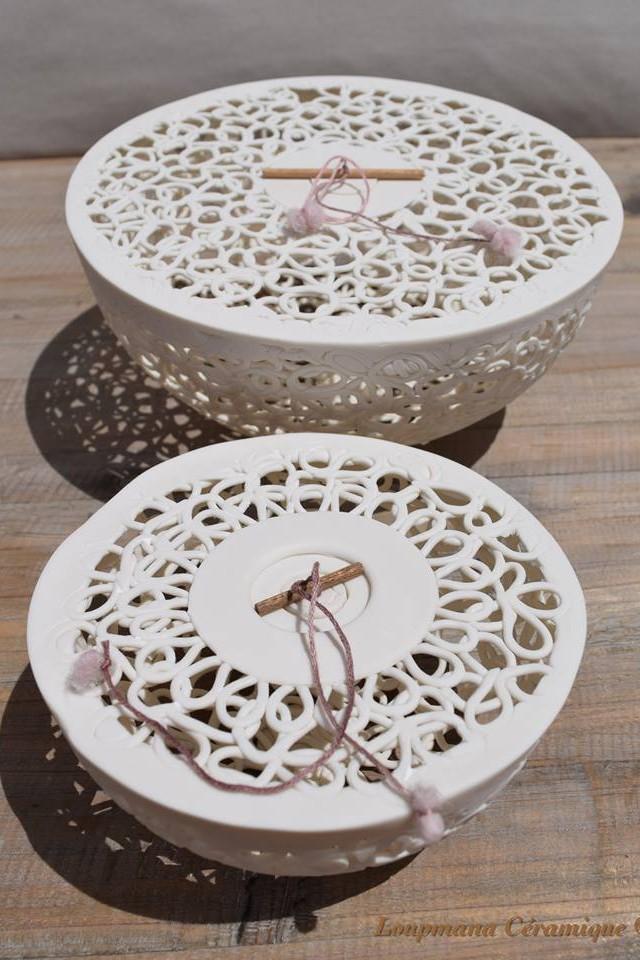 Muriel Lovo Atelier Loupmana céramique Pièces uniques et objets de décoration 06600 Antibes