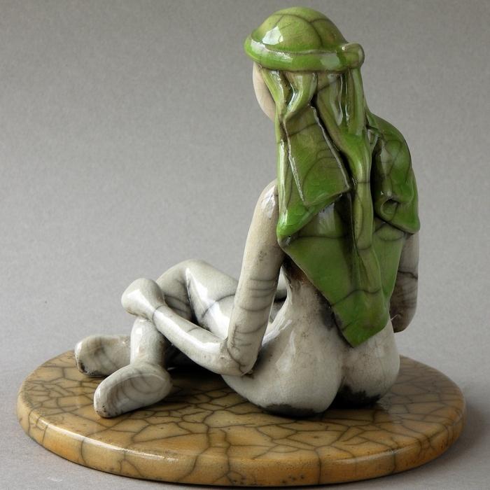 Magali Magnan, sculpture céramique faïence et raku