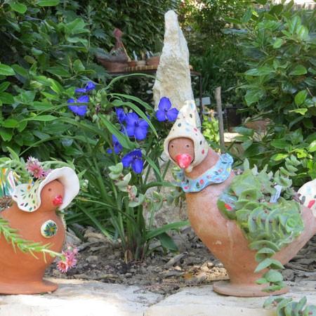 Catherine Pasteau, Atelier des Mille Pattes - Poterie de jardin à Forcalquier (Alpes de Hautes Provence)