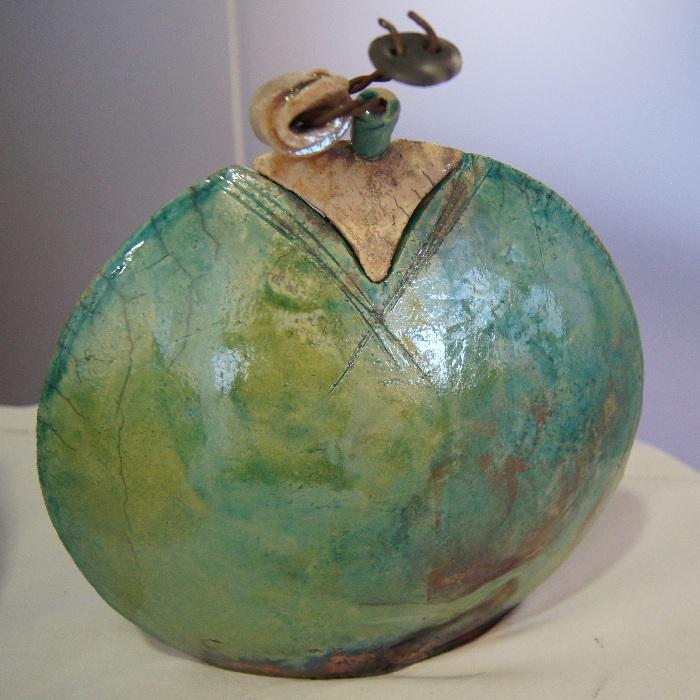 Anne-Marie Piombo, céramique raku